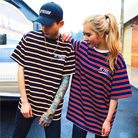 RETRO STRIPE REFUSION TEE sold by NEW ARRIVAL. Shop more products from NEW ARRIVAL on Storenvy, the home of independent small businesses all over the world.