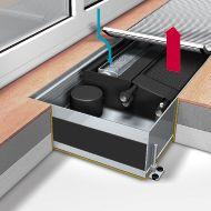 Внутрипольные конвекторы отопления  Mohlenhoff QSK EC HK Артикул: QSK EC HK 2L 320-140-1000 Встраиваемый конвектор с принудительной конвекцией Mohlenhoff QSK HK (отопление/охлождение)