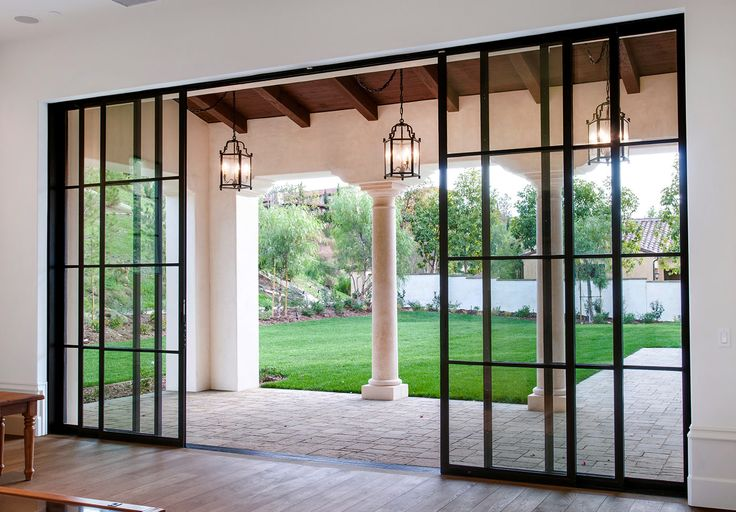 17 best images about special doors portes on pinterest for Steel entry door with sliding window