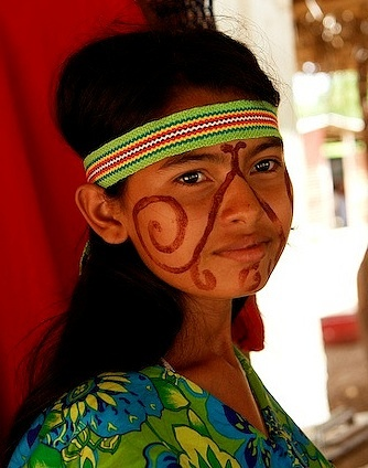 Wayuu girl. Wayuu (also Wayu, Wayúu, Guajiro, Wahiro) is an Amerindian ethnic group of the La Guajira Peninsula in northern Colombia.
