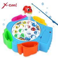 интересный игрушки  11Xc9881 дети рыбалка игрушки комплект детей развивающие игрушки музыкальные подарки электрический вращающийся рыбалка игры магнитная спорт на открытом воздухе игрушки
