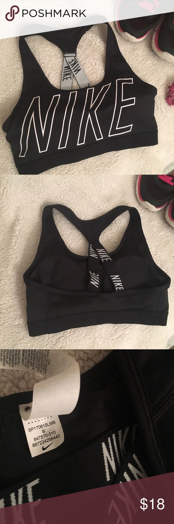 nike • padded sports bra Nike sports bra with removable pads in great condition, perfect for the gym or just lounging around!                       Shoes in pic are also available! Look for the listing in my closet Nike Intimates & Sleepwear Bras