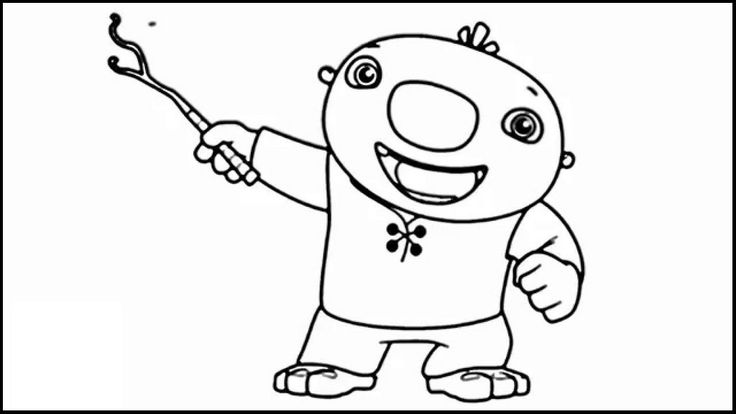 wallykazam printable coloring page