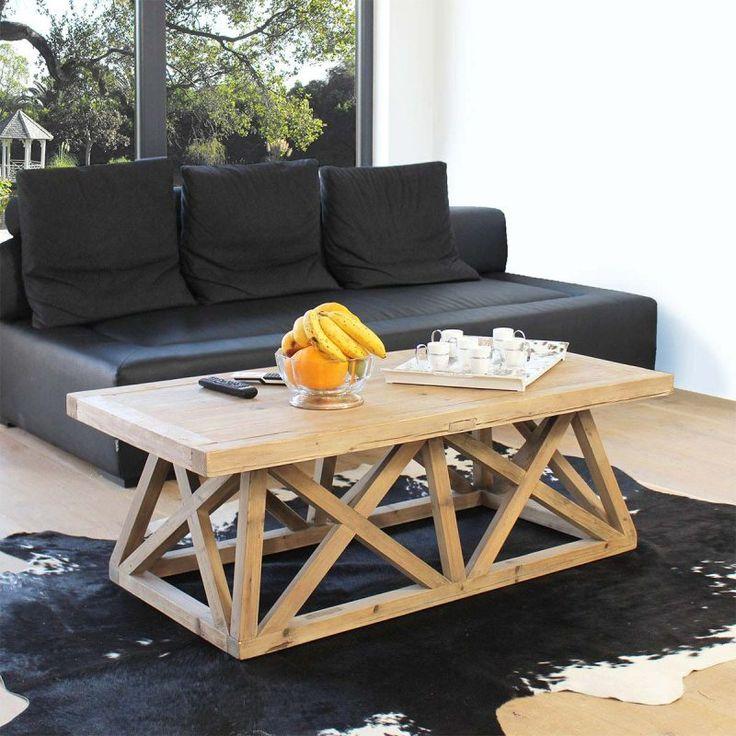 Les 25 meilleures id es de la cat gorie table basse bois brut sur pinterest - Table basse terrasse ...