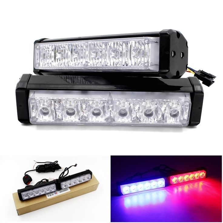 43.99$  Buy here - http://aliv5y.shopchina.info/go.php?t=32690978653 - 12 LED Strobe Flash Warning Light Bar Car Styling White Red Blue Fireman Police Emergency Multiple Modes Front Grille Deck Lamps 43.99$ #magazineonlinebeautiful