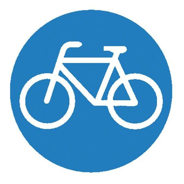 """Verkehrszeichen """"Radfahrer"""" auf extra starkem und wetterfesten Kunststoff  #Verkehrserziehung"""