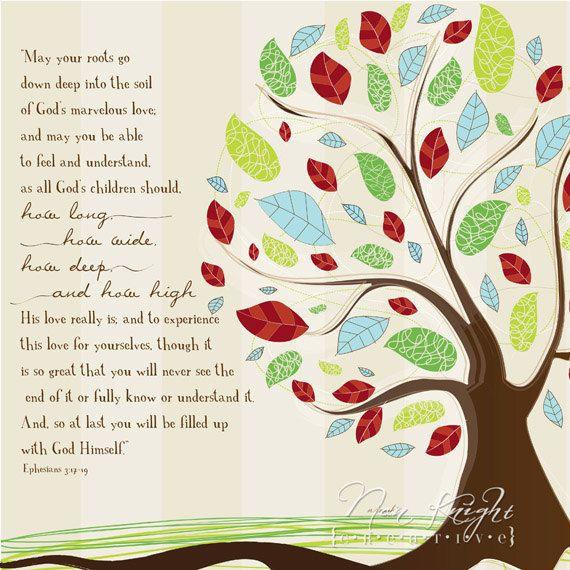 Ephesians 3:17-19 Print. $17.00, via Etsy.