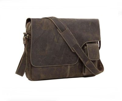 SALE Handmade Vintage Leather Mens Messenger Bag, Crossbody Shoulder Bag, Satchel Bag (G37)