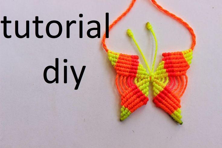 como hacer un collar de mariposa en macrame