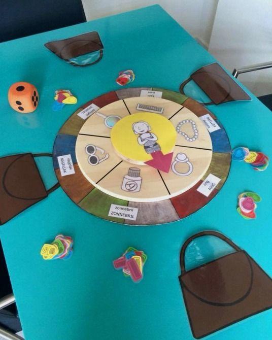 Handtassenspel met draaischijf