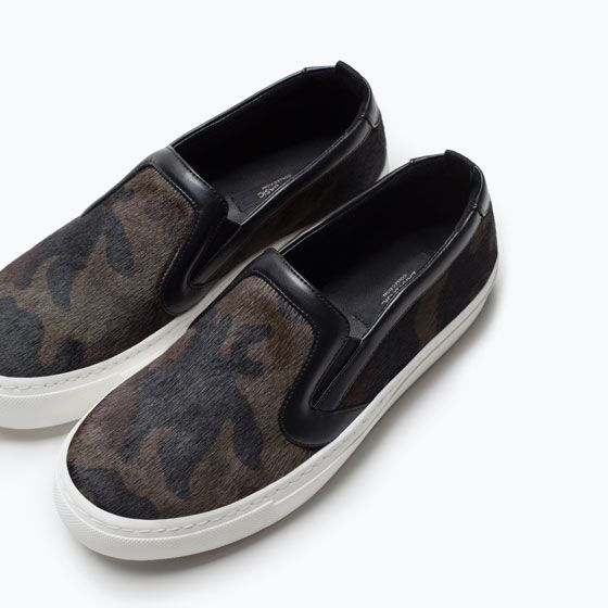 ZARA - COLLECTION SS15 - CAMOUFLAGE LEATHER  SNEAKERS