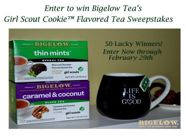 Thin Mints Tea and Carmel & Coconut Tea from Bigelow Tea (50 Winners ...
