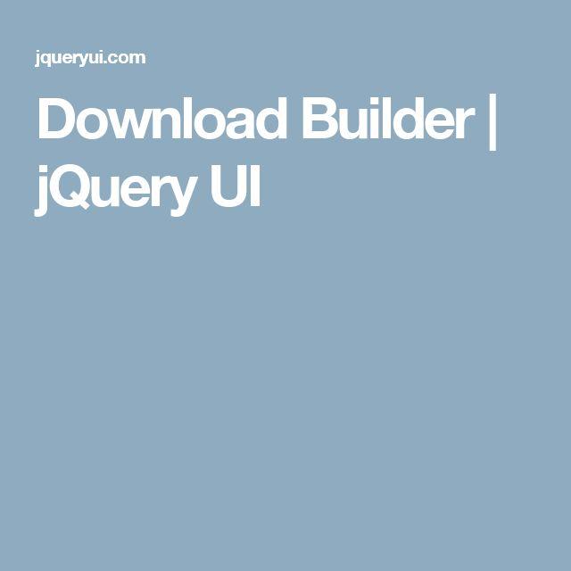 Download Builder   jQuery UI