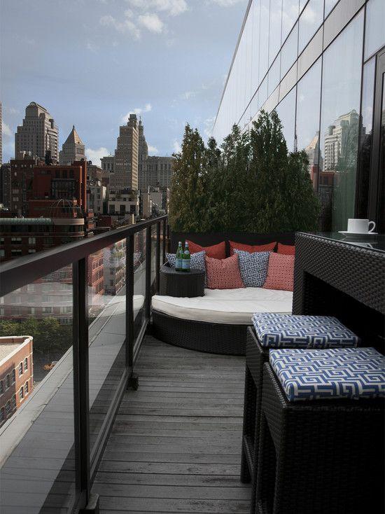 Balcony Railing Design Dwg: Balcony Design, Awesome Contemporary Apartment Balcony