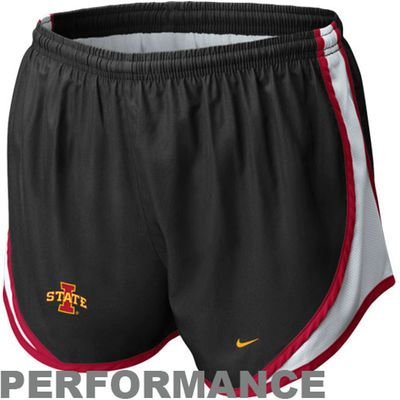 Nike Iowa State Cyclones Womens Tempo Performance Shorts - Black