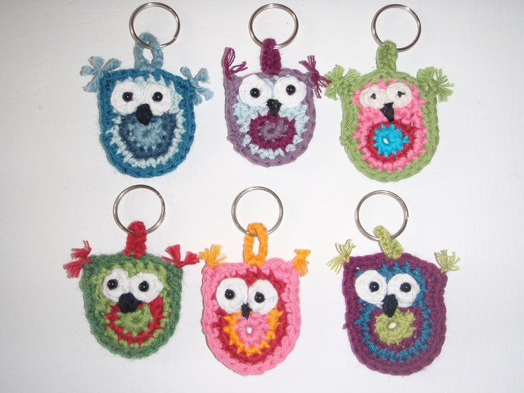 crocheted Owl key rings that you can find on www.facebook.com/pages/BettyBetty-Design/246083645405185