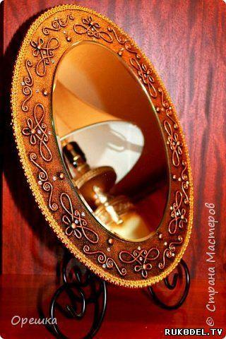 Декор зеркала в технике пейп-арт, мастер класс - Пейп-арт - Декор предметов - Каталог статей - Рукодел.TV
