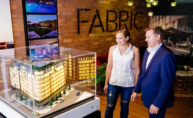 Fabric buyers burst at seams as tens of millions spent at sales launch - design by Cottee Parker Architects, located in Teneriffe