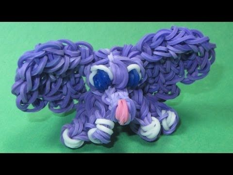 ▶ Rainbow Loom Charms: BABY ELEPHANT: How to Make a Rainbow Loom Baby Elephant Charm - YouTube