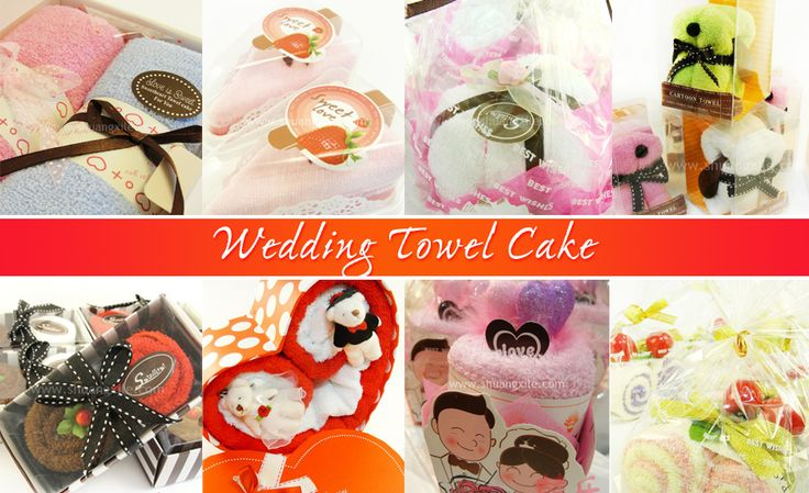 Wedding Towel Cake by Shuang Xi Le