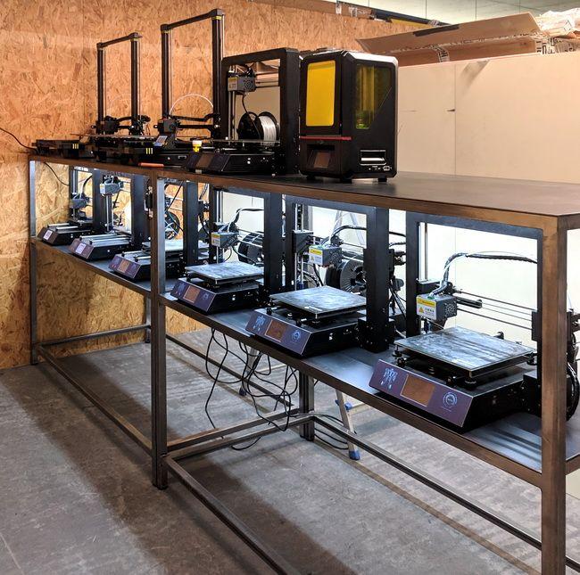 3d Printer Farm Druckerfarm Serien Auf Dem 3d Drucker 3d Drucker Halte Durch
