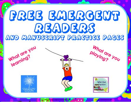 Blog post at Wise Owl Factory : Free Emergent Readers and Printing Practice Here are two freeemergent readers and printing practice printable pages: What are you learn[..]