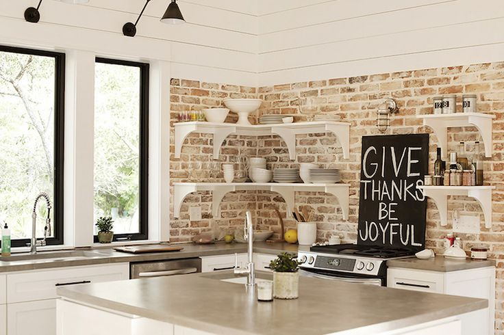 White Washed Brick Kitchen Backsplash Brick Love