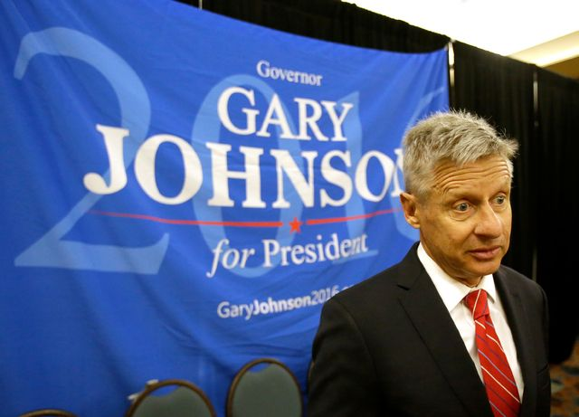 Libertarian presidential candidate Gary Johnson thinks it's a real possibility that he'll be sharing the prime-time debate stage with the Democratic and Republican party nominees this fall, he said Friday.
