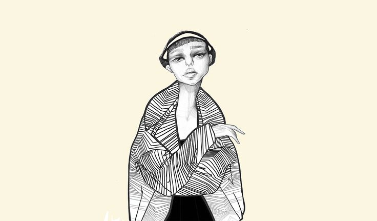 The Girl Who Does Not Care - A series of sketches - World of Ioana