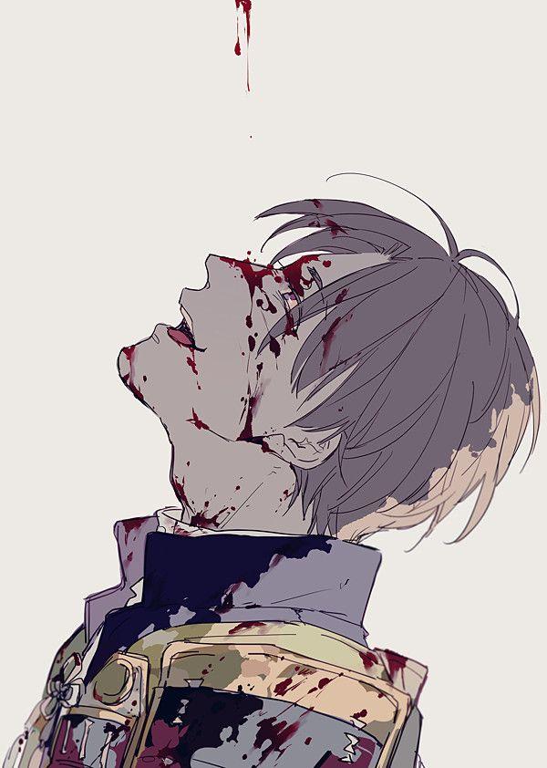 Bloody anime boy Touken Ranbu