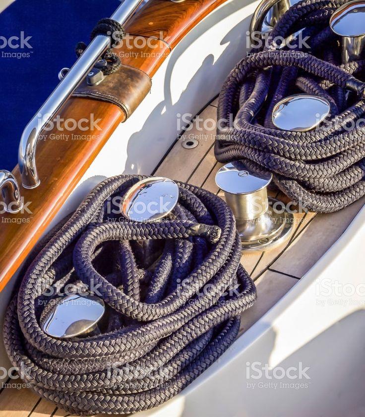 Bollard On Deck royalty-free stock photo