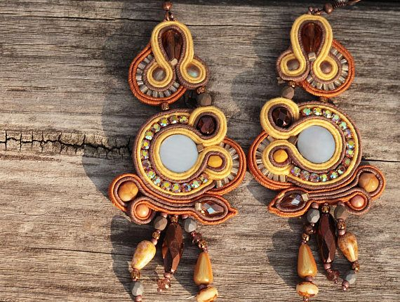 Check out this item in my Etsy shop https://www.etsy.com/listing/559116394/extravagant-soutache-dangle-earrings