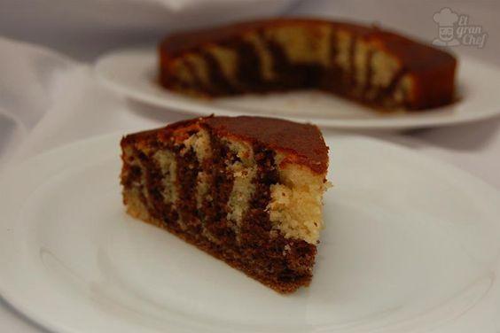 Como hacer una torta cebra 1