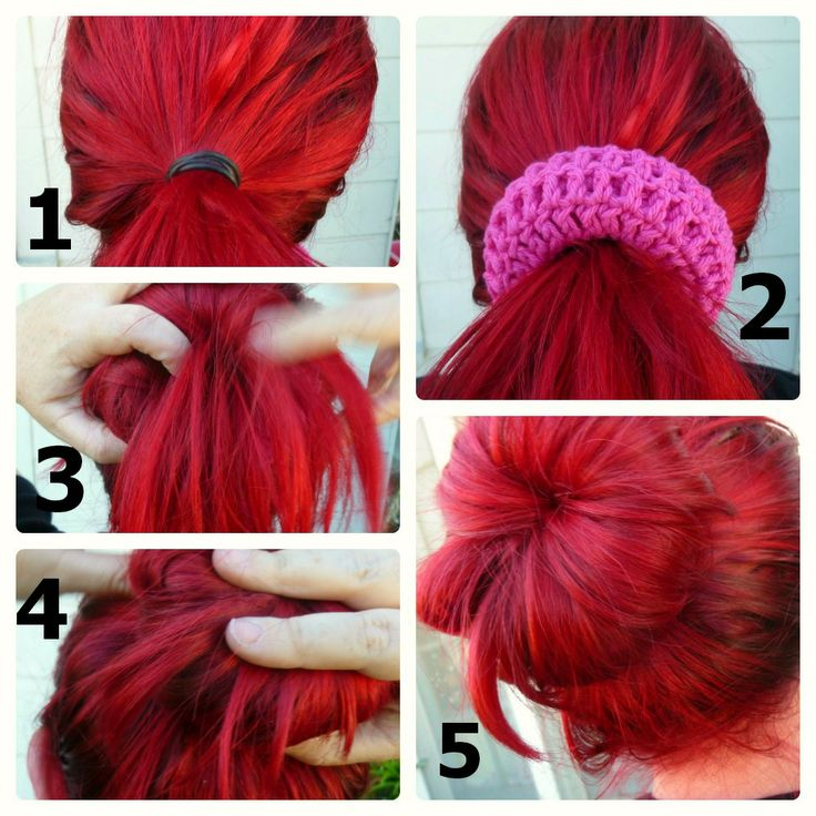 Crochet Dynamite: Better than a Sock Bun!--free pattern for crocheting your own bun shaper AND you can do it in a yarn color that matches your hair!