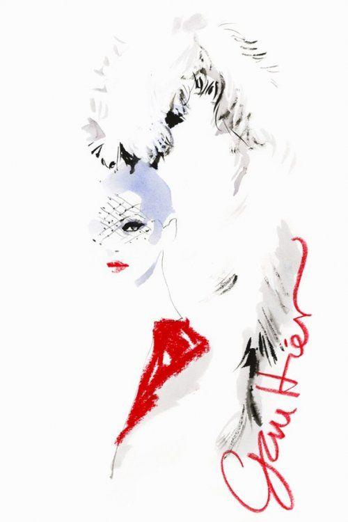 Couture fashion week SS 2014, Paris by David Downton