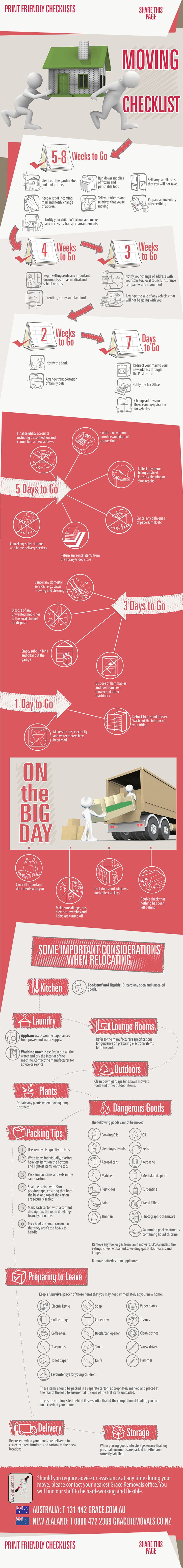 Moving Checklist Infographic - Tips to Help You MoveDuring This Stressful Time.