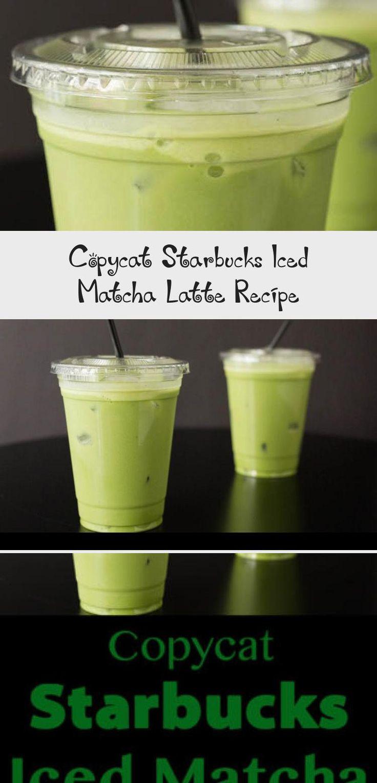 Copycat Starbucks Iced Matcha latte This copycat recipe