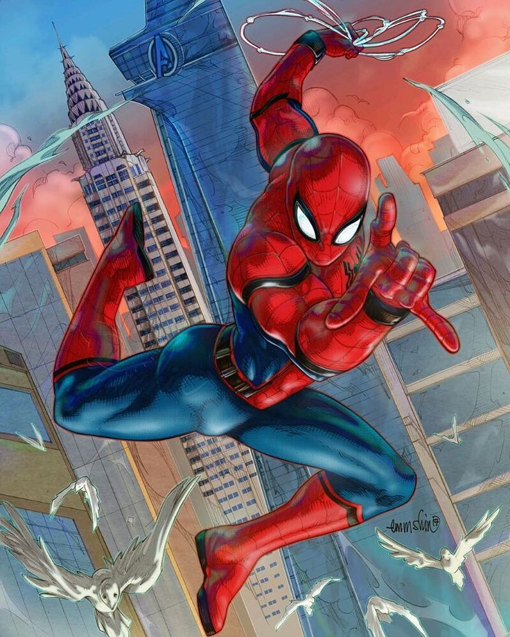 "(@spidey.marvel) på Instagram: ""Love this Spidey pose! Credit to @emmshin - - - - [ #spidermam #marvel #spidermanhomecoming ]"""