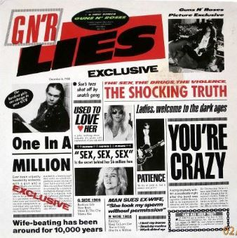 GNR Lies by Guns N' Roses Review GNR Lies Album Background GNR Lies was the second official album from Guns N' Roses. It was, in fact, an EP but was treated like an album on its release in late 1988, selling over five million units in the USA. Coming just a year after the release of Appetite for Destruction, Guns N' Roses could be said to be prolific at the time. #Guns N' Roses #Lies #One in a Million #Patience