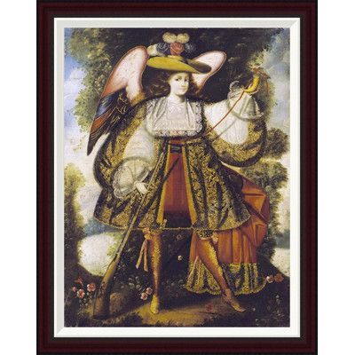 "Global Gallery Arcangel Con Arcabuz by Cuzco School Framed Painting Print Size: 34"" H x 26.69"" W"