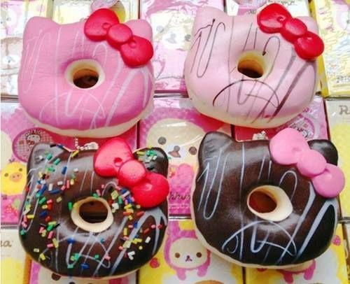 Hello kitty doughnuts.