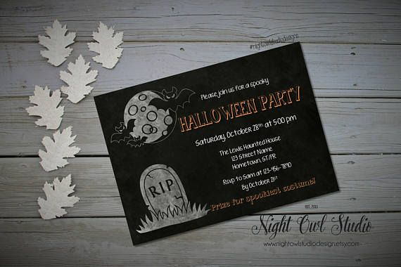 Hey, I found this really awesome Etsy listing at https://www.etsy.com/ca/listing/248992829/halloween-party-invitation-halloween