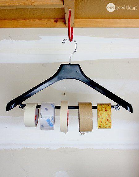 Garage Organization - Hangar-Tape Organizer use for tape, ribbon, etc
