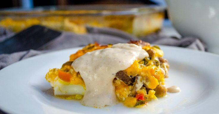 Fireman's Overnight Breakfast Casserole with Country Gravy