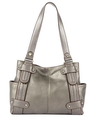Tignanello Handbag, Perfect 10 Leather Studded Shopper