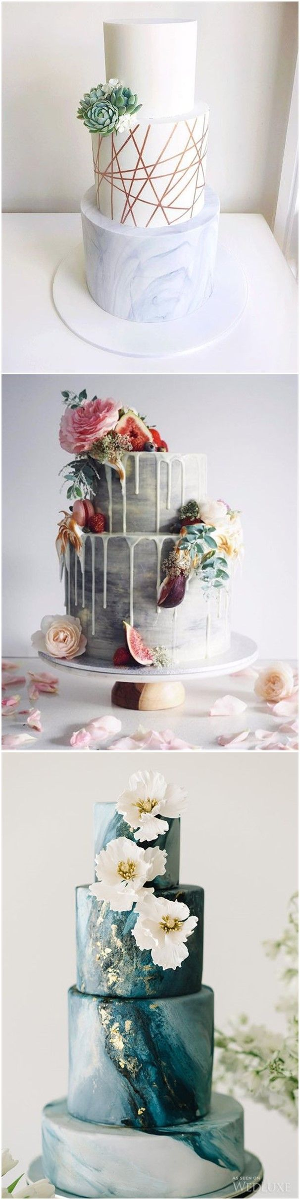 Wedding Cakes » 23    Unique and Elegant Marble Wedding Cake Ideas 2017 » ❤️ See more:    http://www.weddinginclude.com/2017/06/unique-and-elegant-marble-wedding-cake-ideas/
