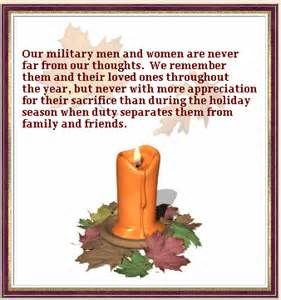 Happy Thanksgiving to all our Military Men and Women. We sincerely appreciate your bravery and sacrifice, especially during the holiday season.  May God bless each of you, and your families as well, who also sacrifice by spending holidays without you. Thank you for your service; thank you for keeping us safe and free!