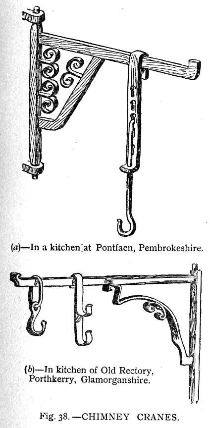 What the housewife used to cook meals: fireplace hangers, pot cranes, fire and cup dogs, tongs and other implements. A lot of good info.