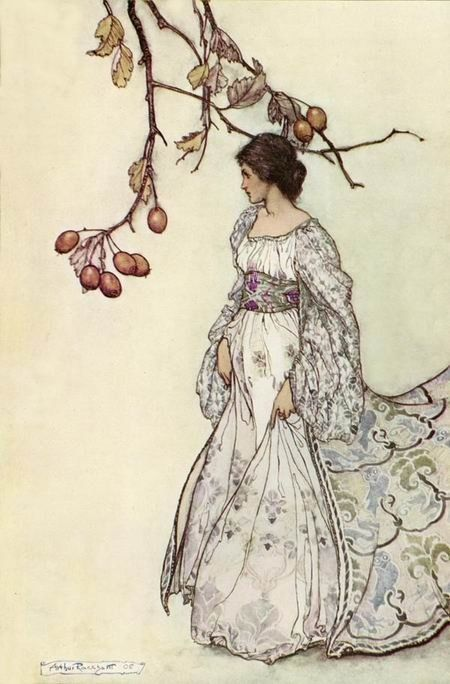 "Arthur Rackham - ""Looking Very Undancey Indeed"" illustration by Arthur Rackham for 'Peter Pan in Kensington Gardens', 1906, by J.M. Barrie"