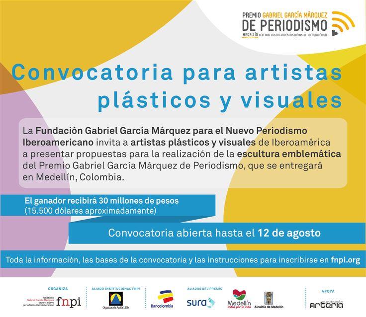 Atención: últimos días para enviar propuestas a la convocatoria para crear la escultura del Premio Gabriel García Márquez de Periodismo #PremioGGM. Aquí toda la información: http://www.fnpi.org/index.php?id=3641